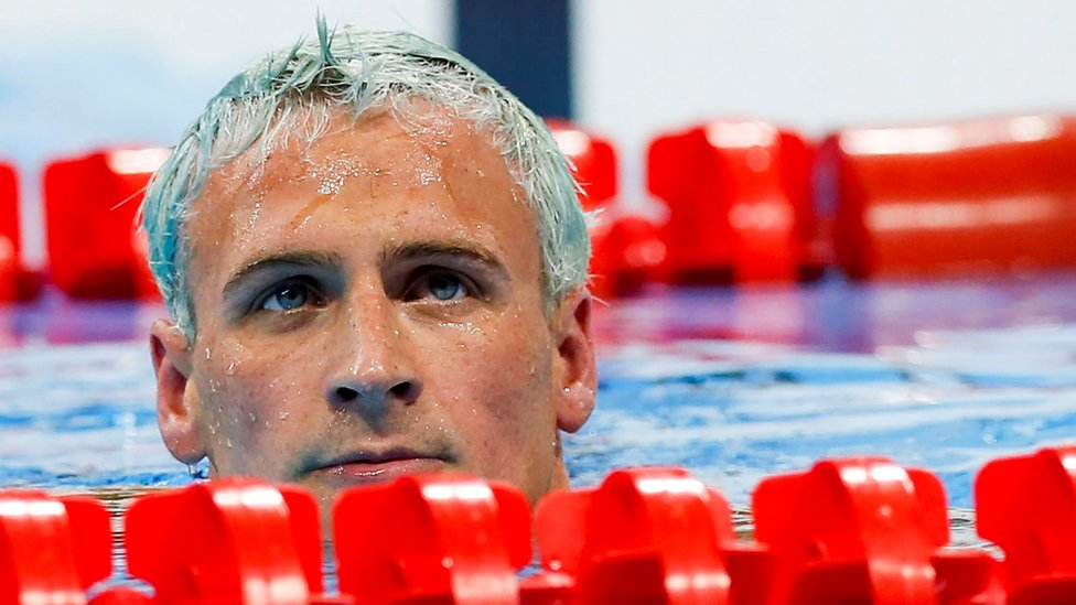 Ryan Lochte competes at the Rio Olympics
