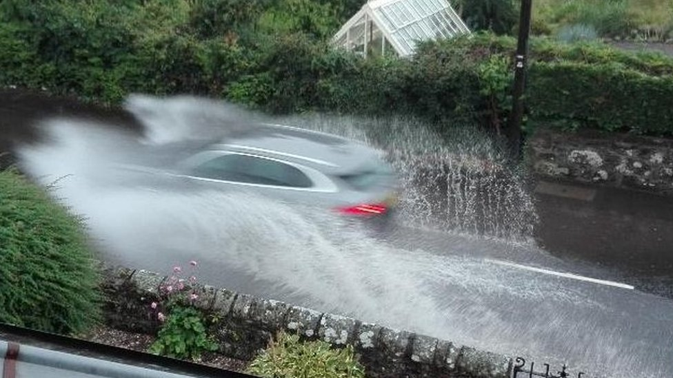 Car in surface water