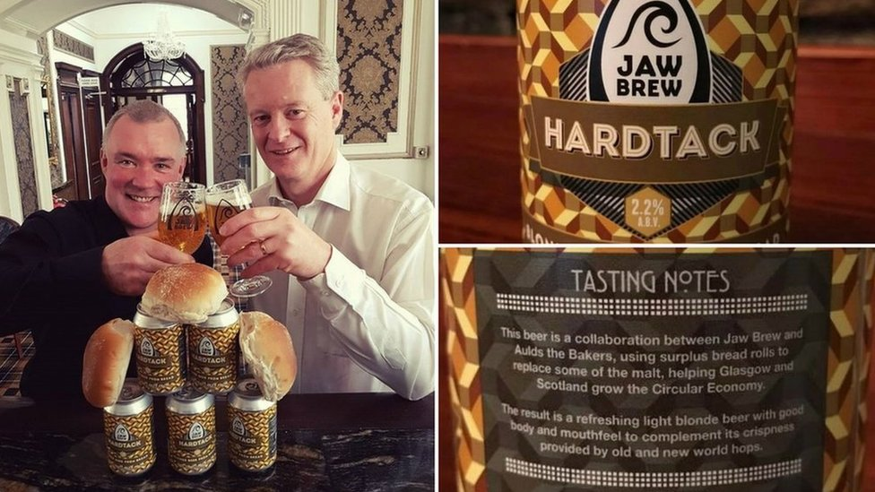 Hardtack is a blonde beer made by Jaw Brew in partnership with Aulds