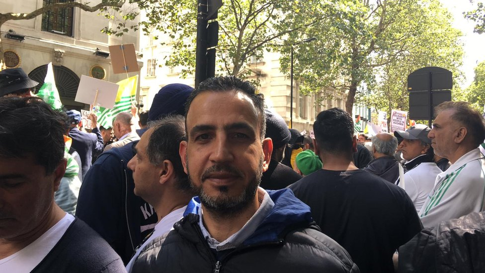Razaq Raj, from Leeds Beckett University, was at the protest in central London