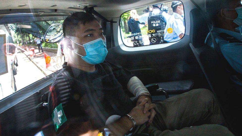 唐英傑面臨三項指控,包括兩條在香港《國安法》下的罪名。