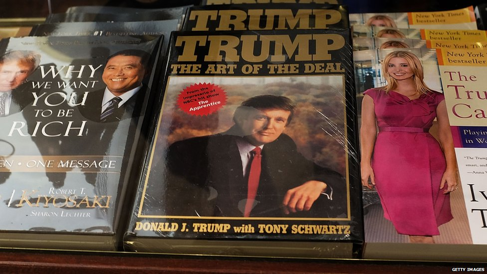 Donald Trump's 1987 best-seller The Art of the Deal.