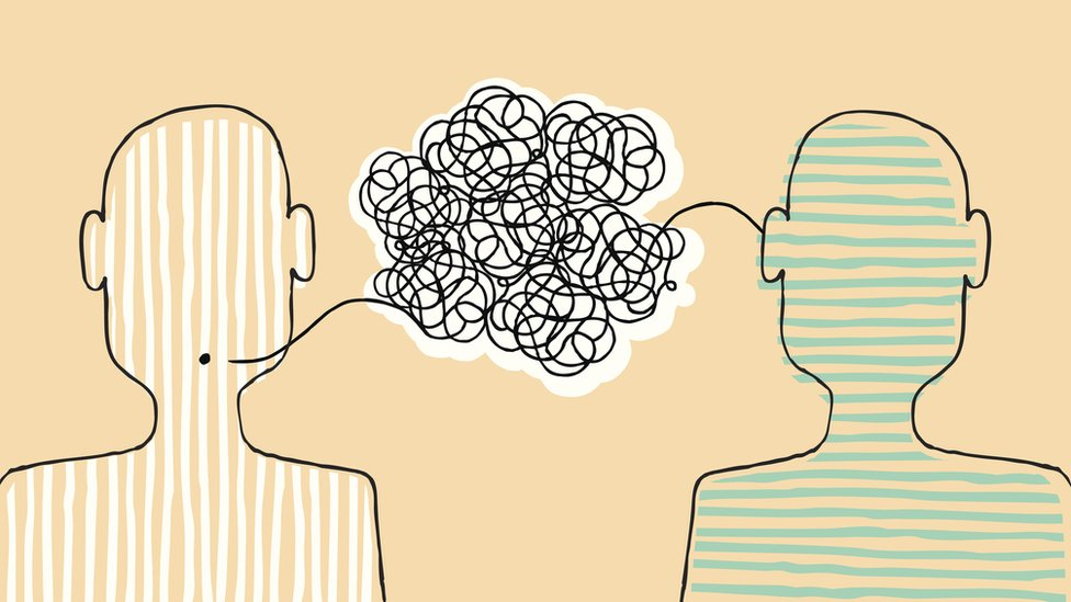 Dos personas en una conversación