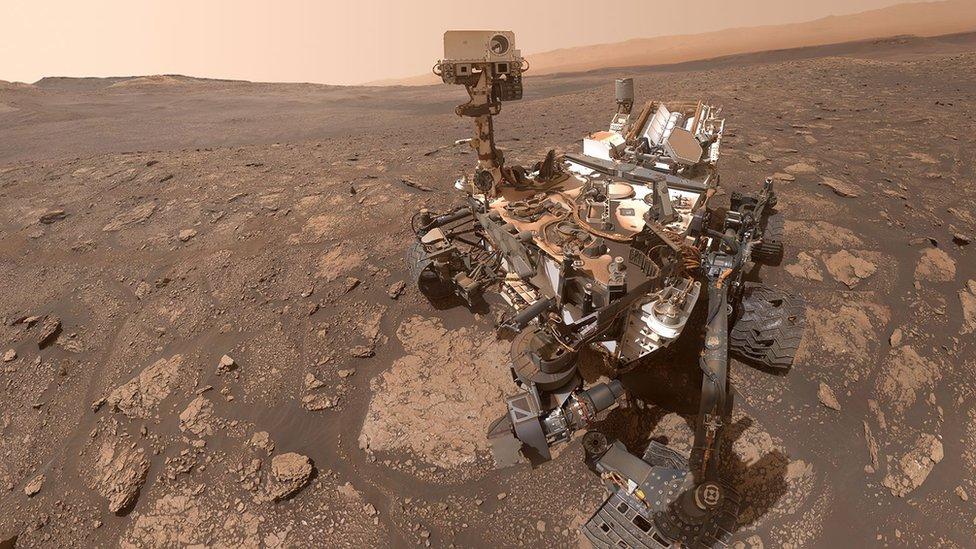 El rover Curiosity en la Superficie de Marte Perseverance