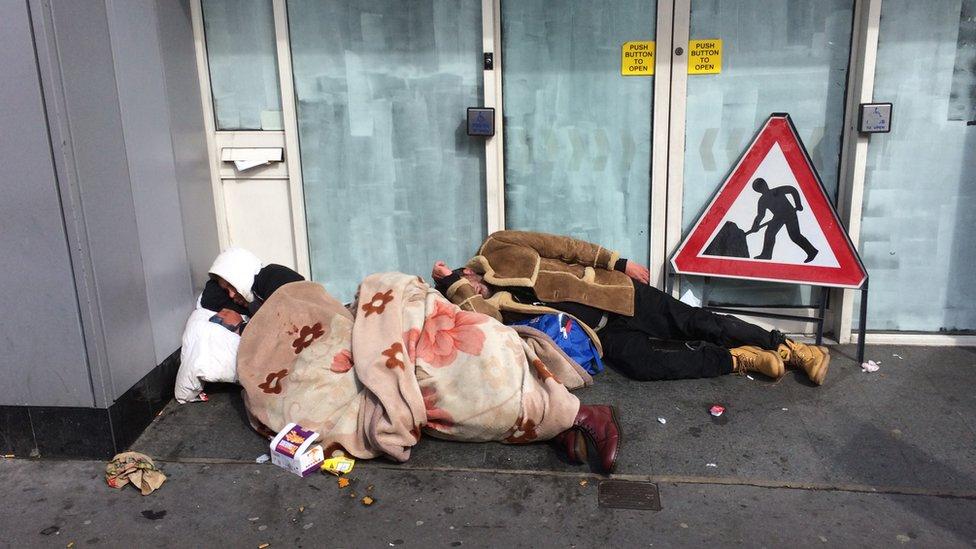 People on street (stock image)