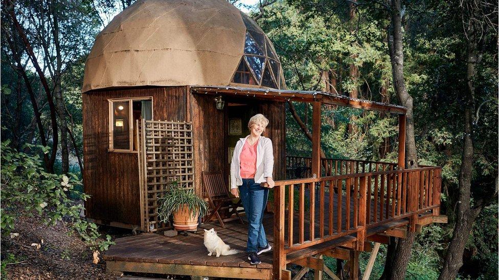 Cabaña Mushroom Dome en Aptos, California.