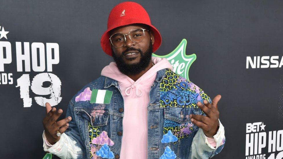 Falz arrives to the 2019 BET Hip Hop Awards on October 05, 2019 in Atlanta, Georgia.