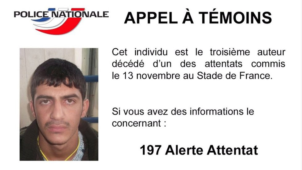 Police appeal for information about one of the Paris attackers