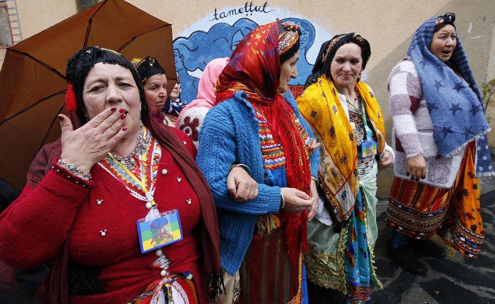 Algerian Berbers celebrate New Year 2970 in Sahel village, south of Tizi-Ouzou, east of Algiers, 12 January 2020