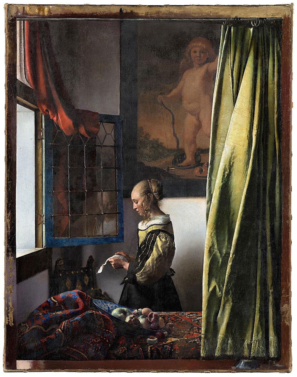 La muchacha leyendo una carta