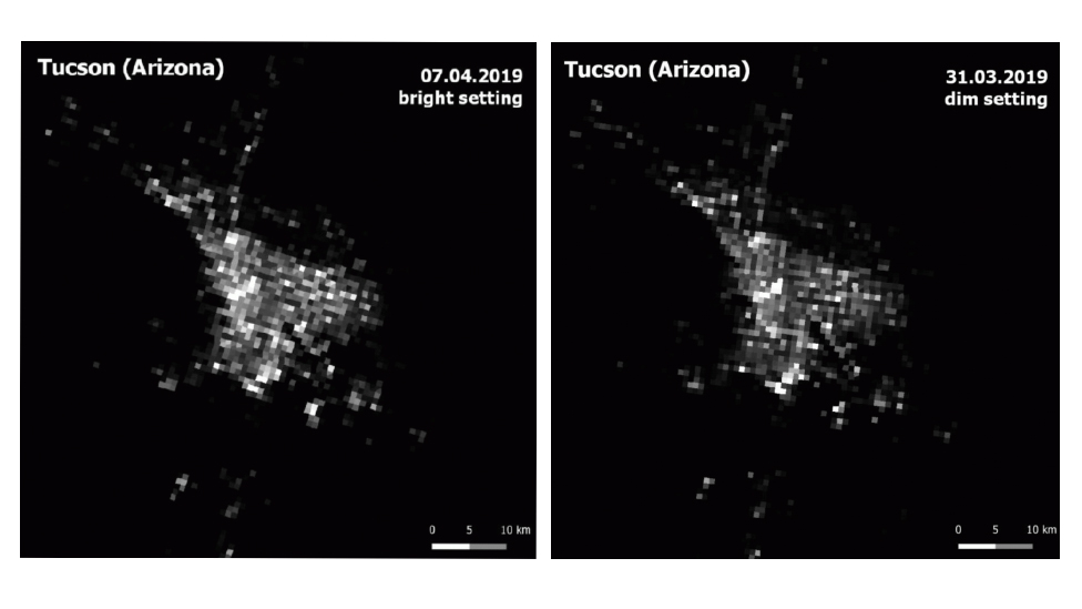 Tucson artificial light from Space