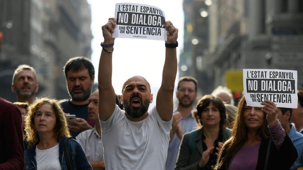 Manifestantes independentistas