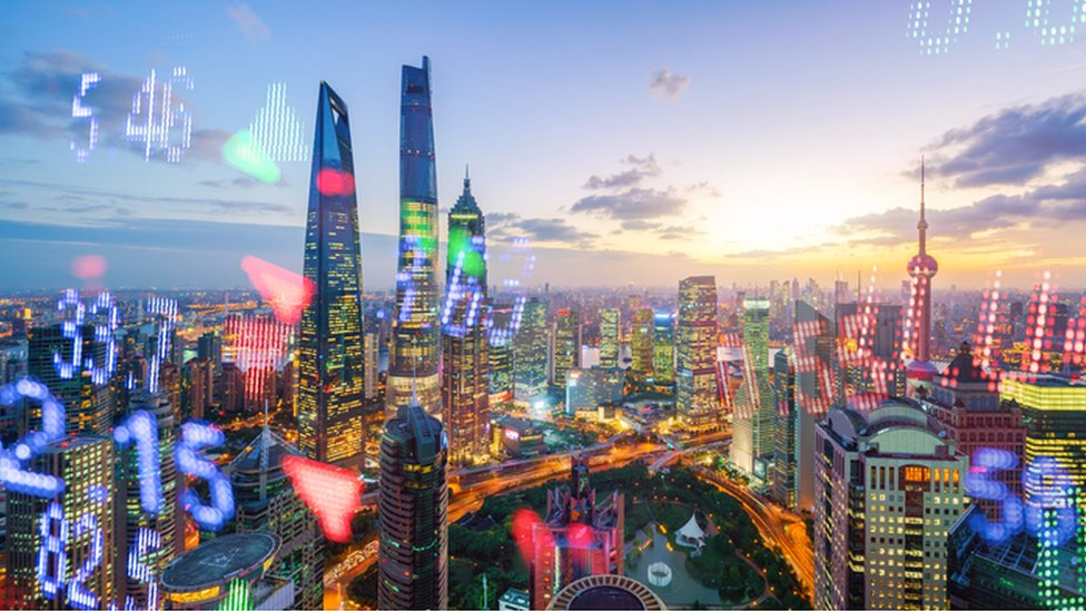 Shanghái con números reflejados.