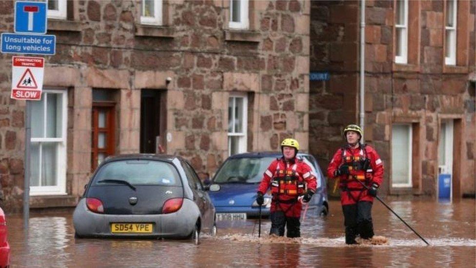 Stonehaven floods