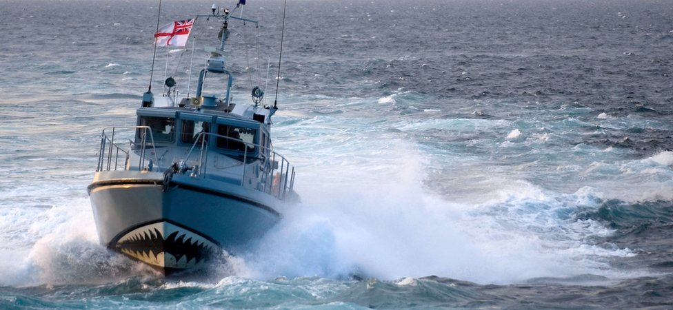 HMS Sabre, a patrol boat based in Gibraltar with the Royal Navy Gibraltar Squadron
