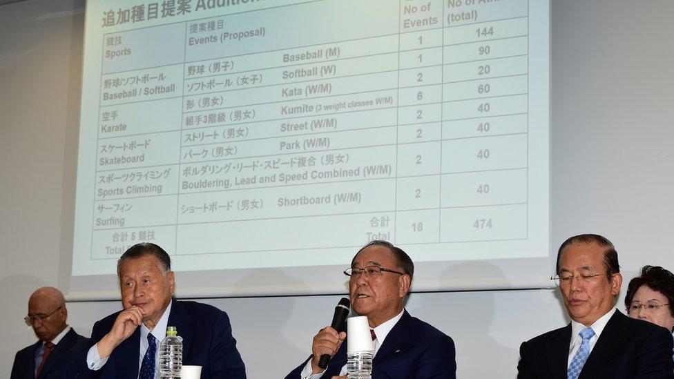 وافقت اللجنة بالإجماع على مقترح إضافة الرياضات الخمس دفعة واحدة، بعدما تم ترشيحها العام الماضي من قبل منظمي دورة طوكيو