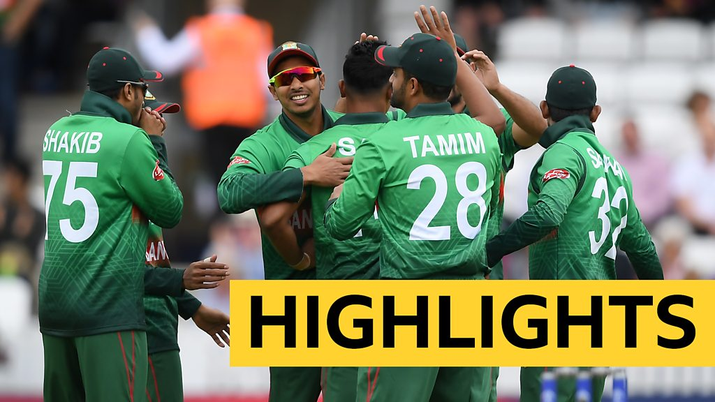 Cricket World Cup highlights - Bangladesh beat West Indies