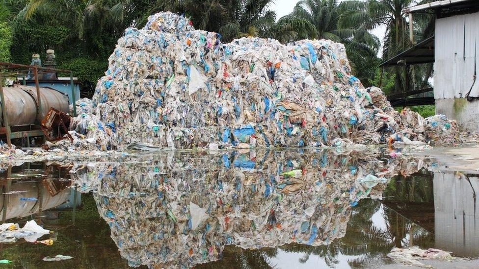 Plastic waste in Kuala Langat