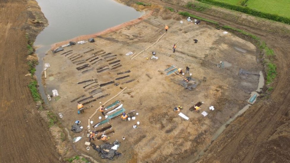 Dig site, Great Ryburgh in Norfolk