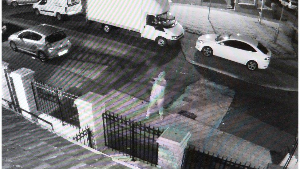 CCTV footage of attack on Sinn Féin office