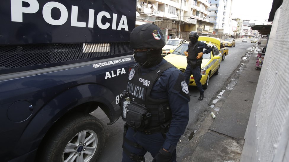 Policía en Ciudad de Panamá