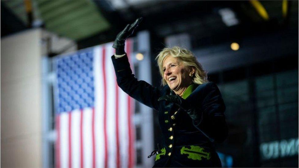 吉爾·拜登的推特用戶名為Dr. Jill Biden(Credit: Getty Images)