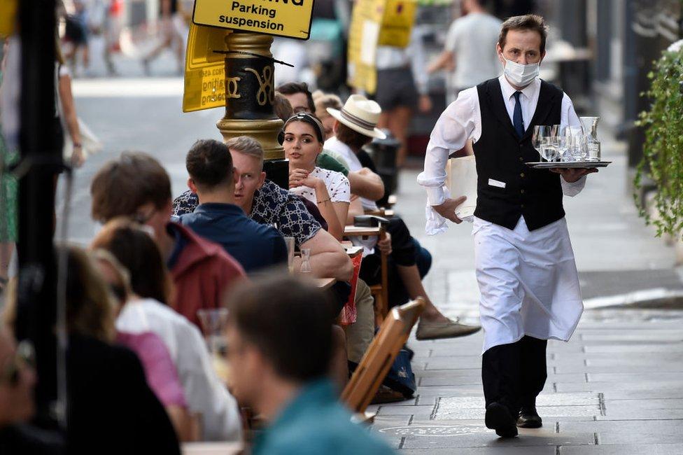 waiter in Soho