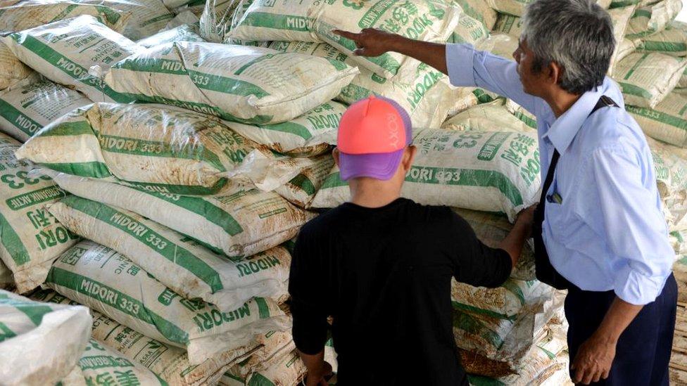 2016年,印尼海關截獲一批硝酸銨