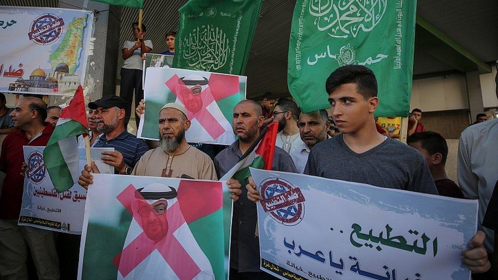 2020年8月15日,加沙地帶北部難民營中的抗議