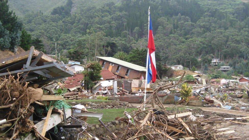 cabaña destruida