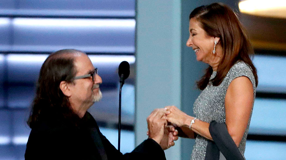Marriage proposal wins best Emmy moment