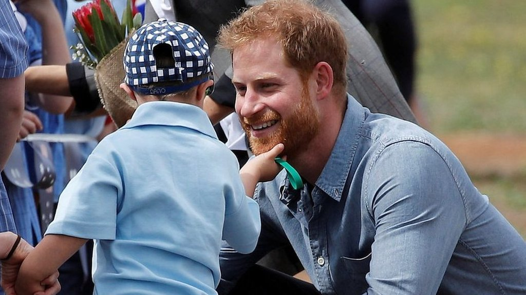 A right royal beard rub for Prince Harry