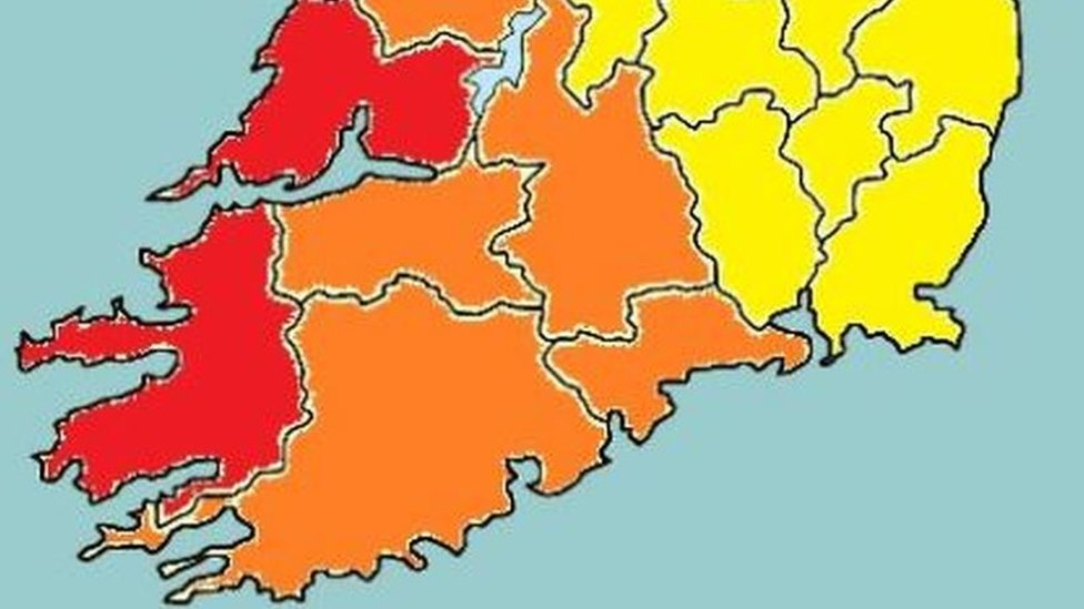 Storm Hannah: Weather warnings for island of Ireland