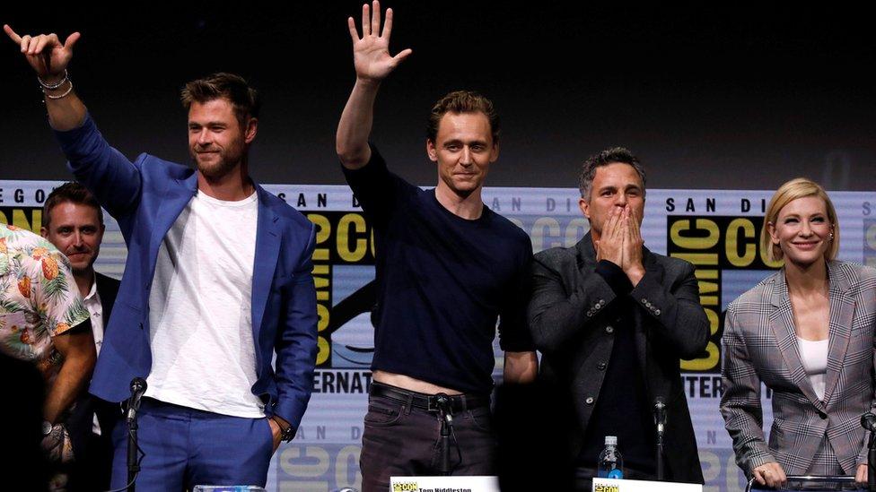 Chris Hemsworth, Tom Hiddleston, Mark Ruffalo and Cate Blanchett
