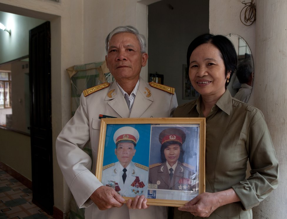 Nguyen Thi Tien is seen here with her husband Ong The Thi