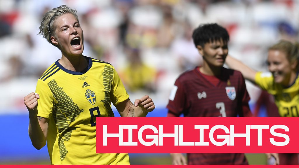 Women's World Cup 2019: Sweden defeat Thailand 5-1 to reach the last 16