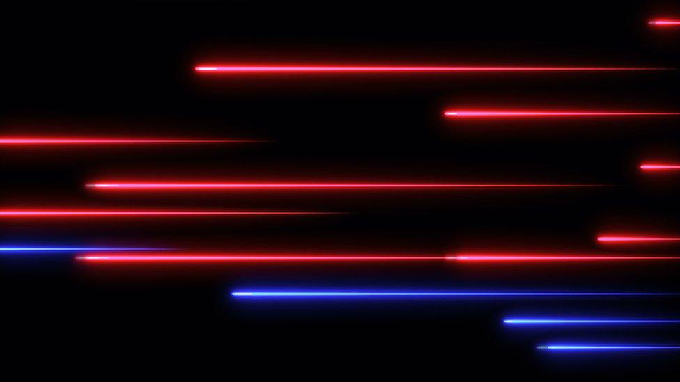 Imagen de luz láser