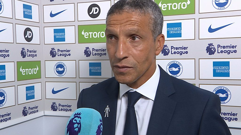 Brighton 3-2 Manchester United: Chris Hughton pleased with 'deserved' win