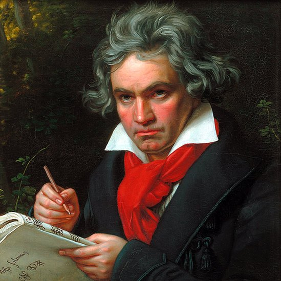 Portrait of Ludwig van Beethoven when composing the Missa Solemnis', 1820. Stieler, Joseph Karl (1781-1858). Found in the collection of the Beethoven-Haus, Bonn.