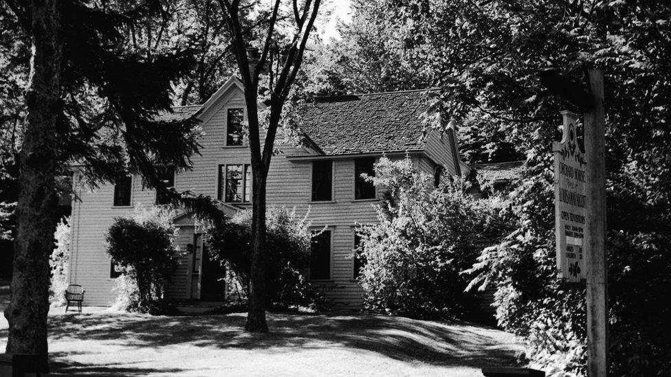 Casa de Louisa May Alcott en Concord, Massachusetts