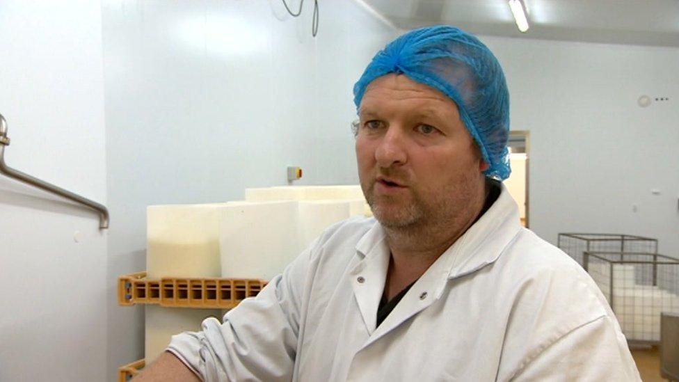Carwyn Adams, head of family-owned Caws Cenarth company in Ceredigion