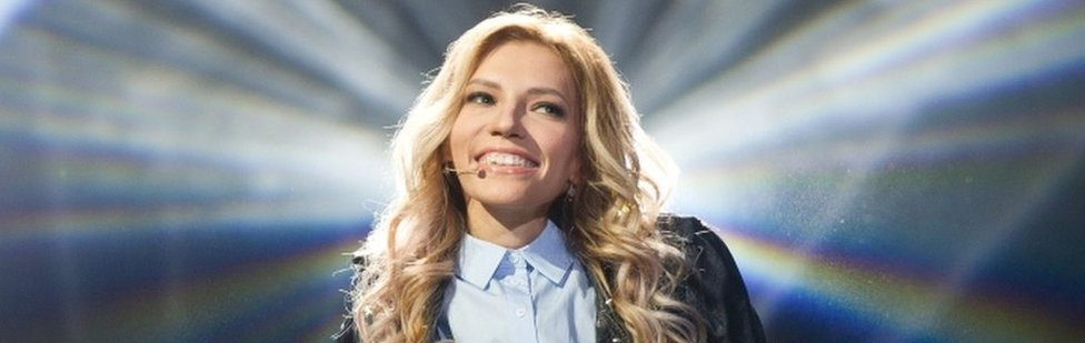 A handout photo taken on March 11, 2017 in Moscow and provided by Russia's Channel One press service shows Russian singer Julia Samoilova