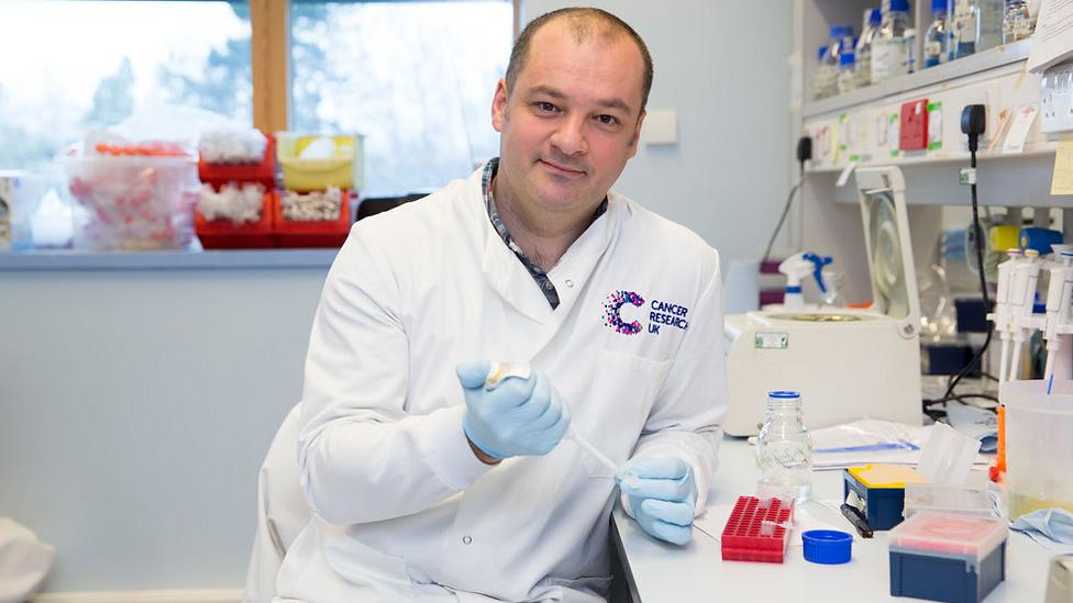Dr Alan Parker in his lab