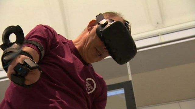 Using the virtual reality headset