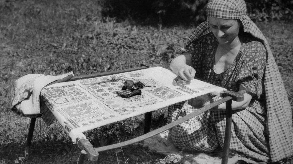Mujer musulmana en Bosnia.