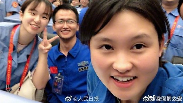 """Ms Zhou has been described in state media as a """"big sister"""" that young Chinese can look up to"""
