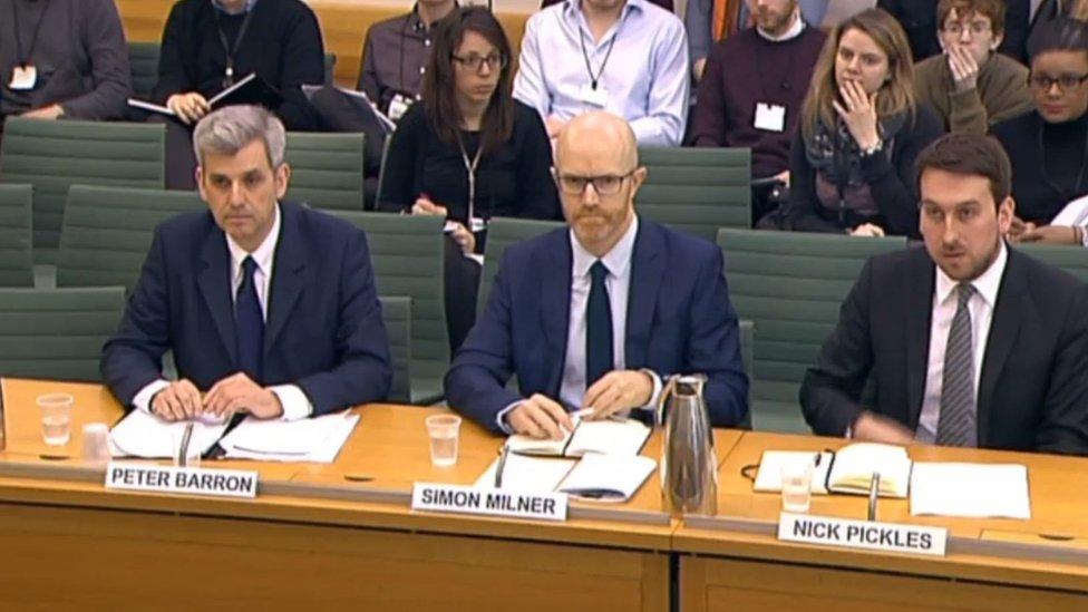 Peter Barron, Simon Milner and Nick Pickles