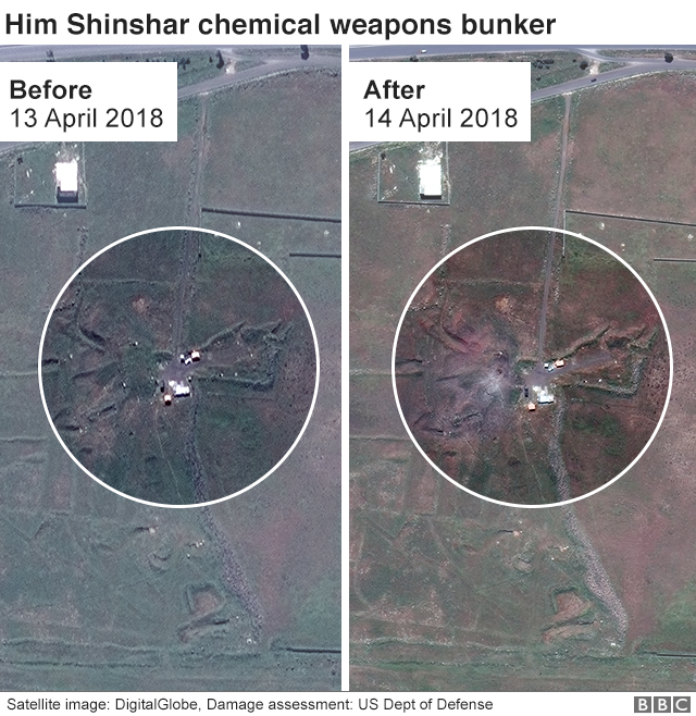 Him Shinshar chemical weapons bunker before and after satellite images