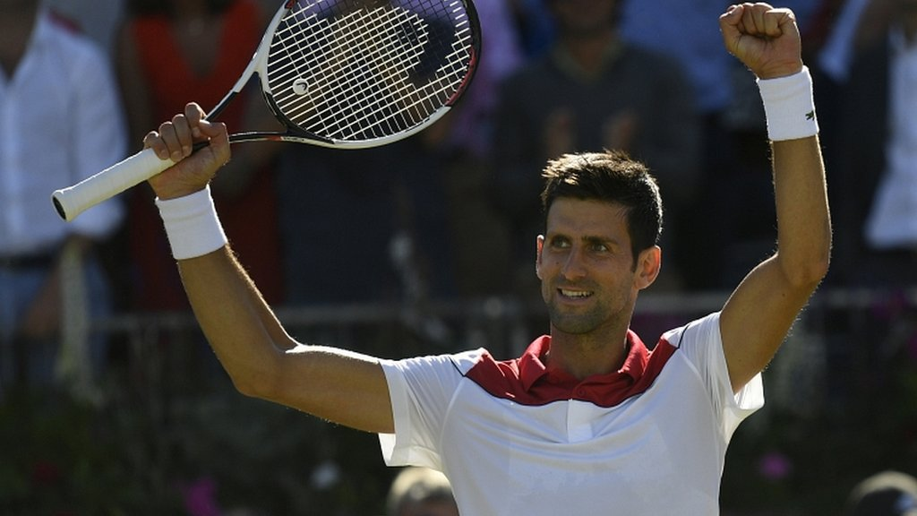 Djokovic wins 800th match to reach Queen's semi-finals
