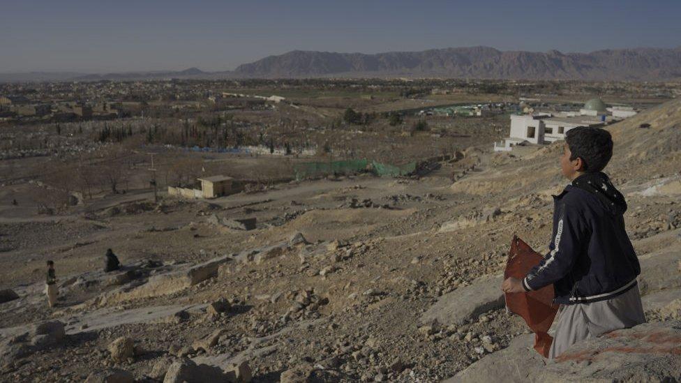 Niño hazara en Pakistán